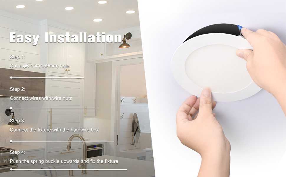 6 inch recessed ceiling light
