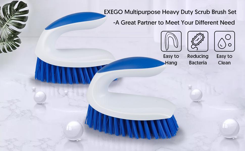 EXEGO Mutipurpose Heavy Duty Scrub Brush Set