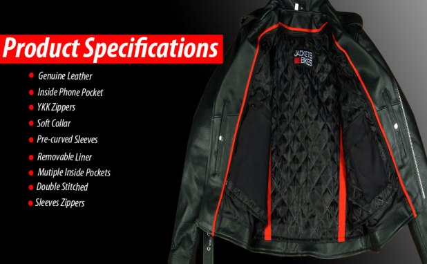 Motorcycle Leather Jacket Specifications