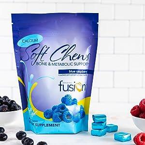 Bariatric Fusion Blue Raspbery Citrato de Cálcio Suaves Mastigações