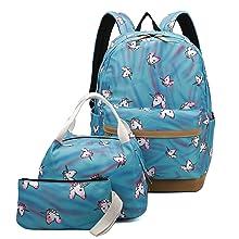 Blue Backpack Set