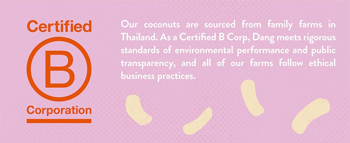 As a Certified B Corp, Dang meets rigorous standards of environmental performance.