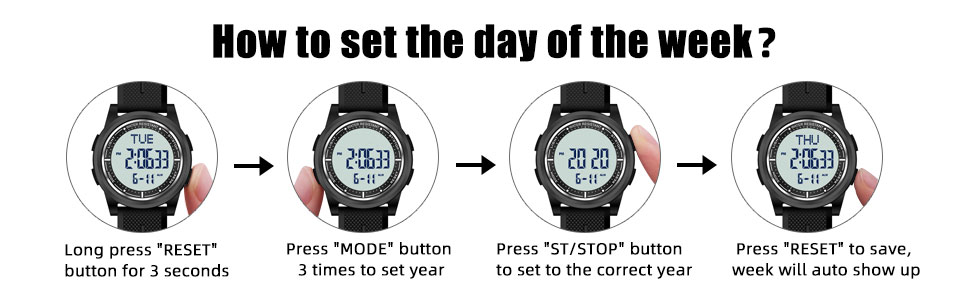How to set the day of the week?