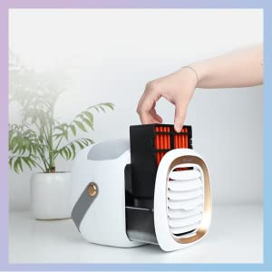 Portable Cooler with Replaceable Air Filter