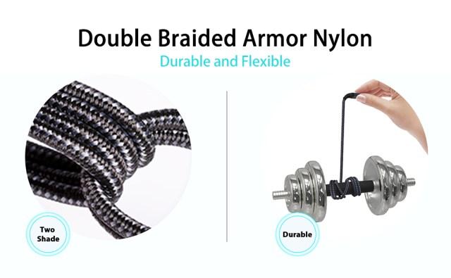 double braided armor nylon