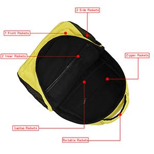 Water Resistant Casual Daypack Backpacks Bookbag