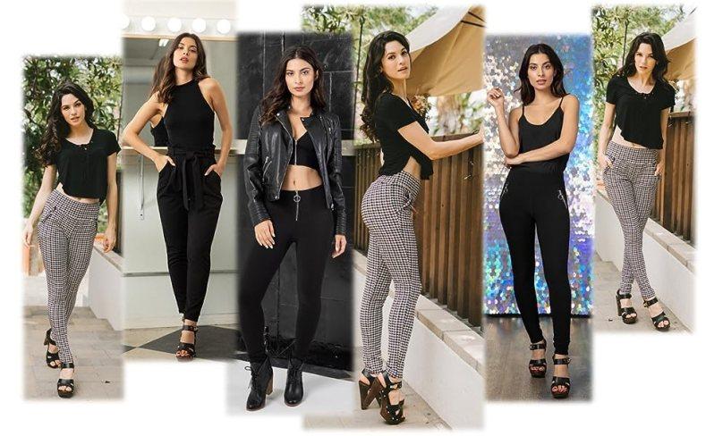 womens plus size, trousers, treggings, thick pants, solid, regular size, work pants, zipper pants