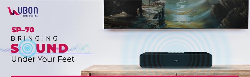 UBON SP-70 Wireless Bluetooth Soundbar Speaker (Black) SPN-FOR1