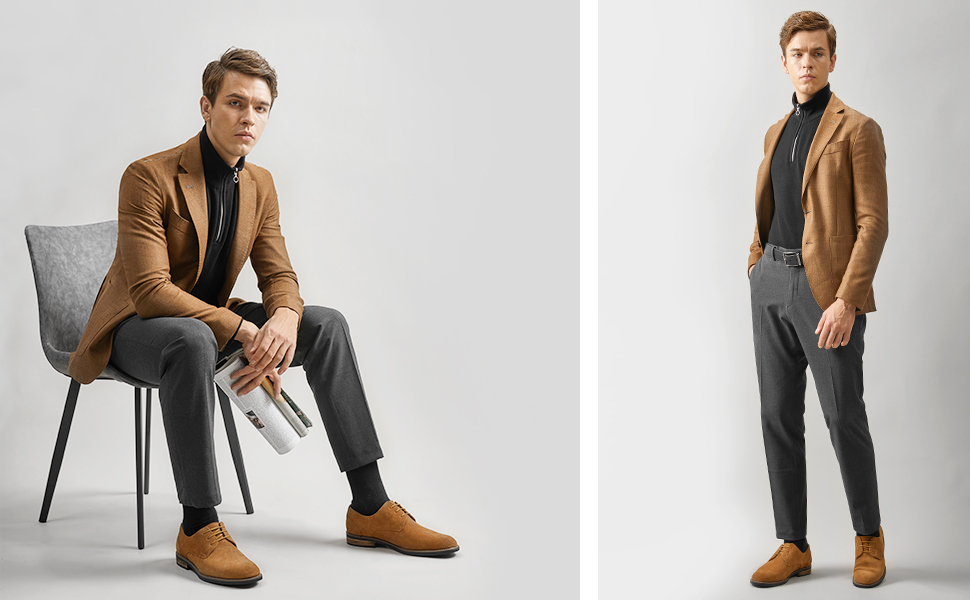 The stylish Derby shoe is the perfect canvas for personal expression.