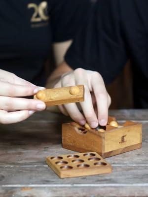 asterisk wooden puzzled 3d brain teaser bar game interlocking mechanical game handmade organic