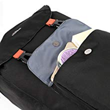 HIGH QUALITY & DURABLE MATERIAL-- High quality cotton canvas and leather trim makes the backpack