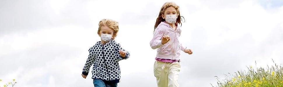 surgical pediatric disposable face masks