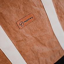majnber kraft-papier-Shopper tasche bag beutel nachhaltig vegan modisch chic Einkaufstasche modisch