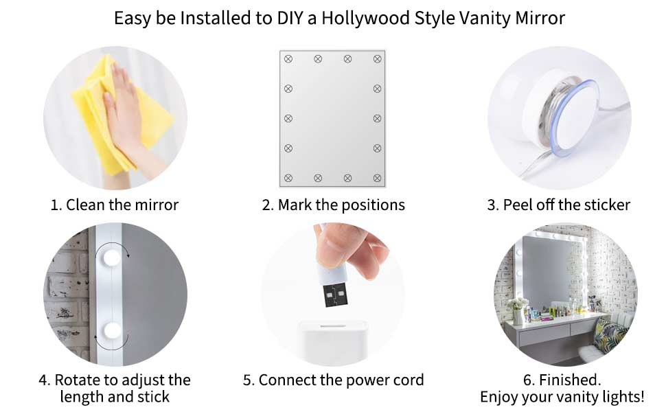 led lights for vanity mirror