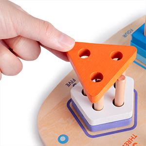 Giocattoli Forme Geometriche Impilatore Bambini Blocchi