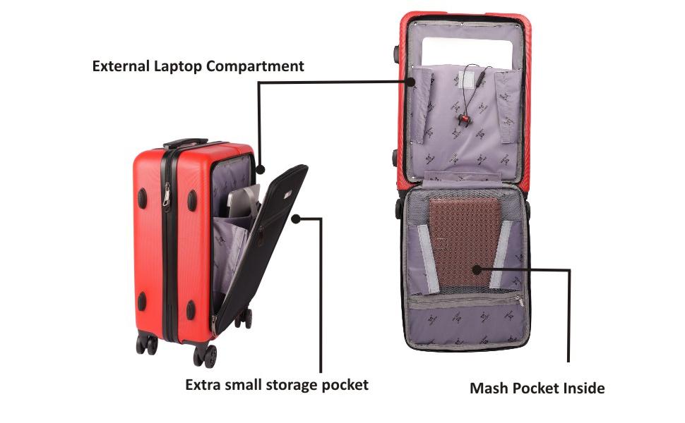 laptop bag, laptop compartment, smart bag, smart travel bag, travel trolley