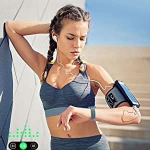 music control watch touch screen smart watch sedentray reminder fitness tracker activity
