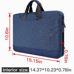 13.5-15 inch briefcase with organizer