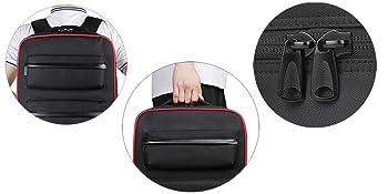 backpack, protable carrying handle, double zipper