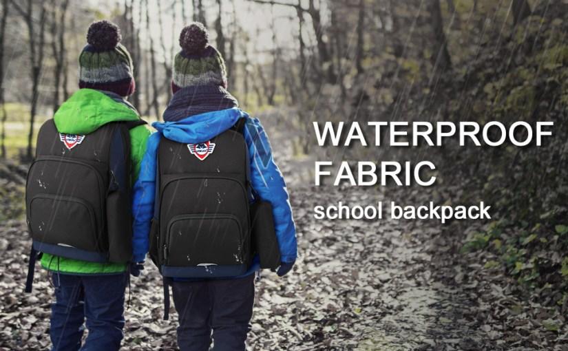 waterproof fabric school backpack