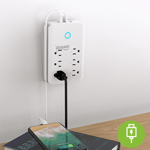 smart wall outlet extender plug socket works with alexa google home Surge Protector power strip