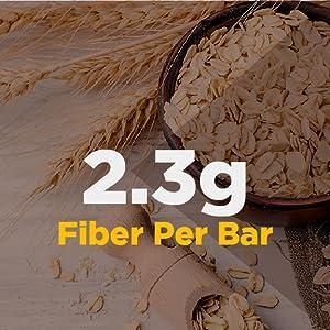 2.3g fiber per protein bar