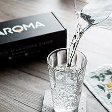 wasser,glas,schütten,mixen,aromatisieren,myaroma