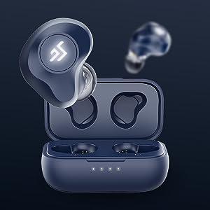 wireless bluetooth earphones earbuds headphones noise cancelling deep bass sports mic