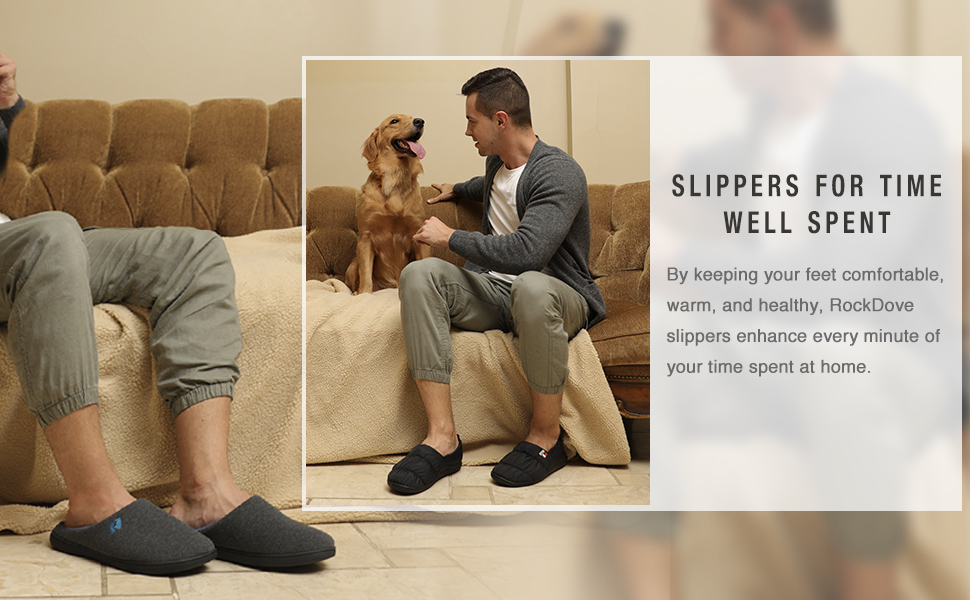 RockDove men's slippers