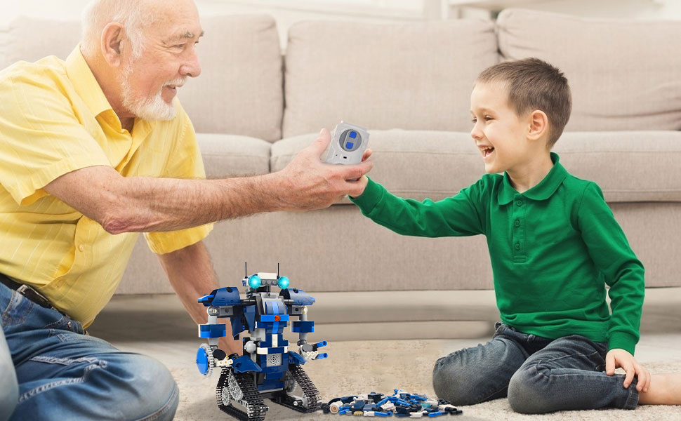 Programmable building block robot