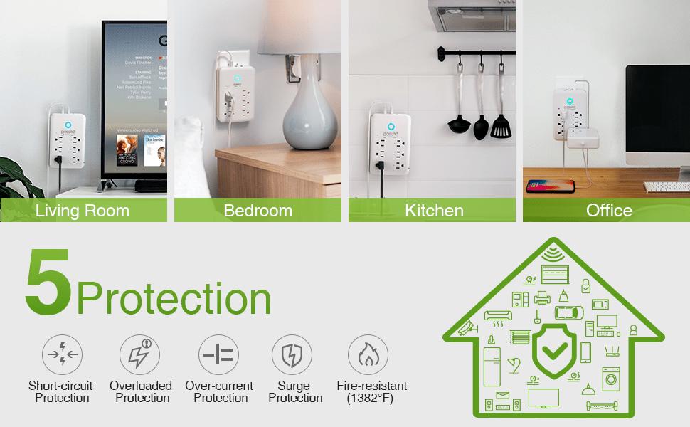 smart outlet extender plug that works alexa google home
