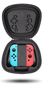 fit nintendo joycon grip joystick gamepad holder storage case pouch