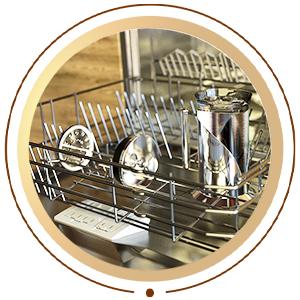 French coffee press inside dishwasher
