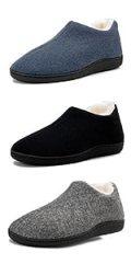 Womens Comfortable Slippers Plush Fleece Lined Memory Foam House Shoes Slip on Rubber Sole Slipper