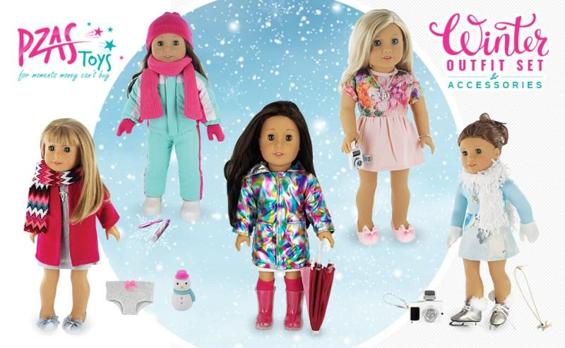 winter 5 dolls