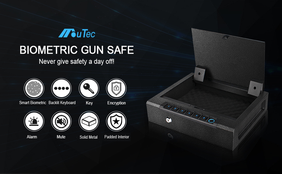Biometric Fingerprint gun safe