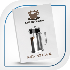 Cafe Du Chateau brewing guide included with cold brew kit