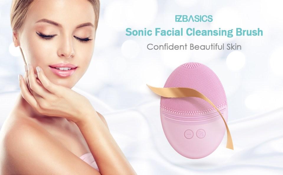 Sonic facial cleansing brush