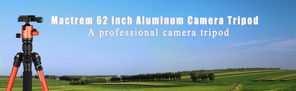 Mactrem 62 inch aluminum camera tripod