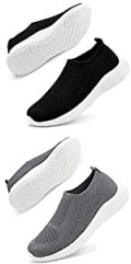 Mens Walking Shoes Athletic Running Shoes Lightweight Mesh Tennis Sneakers Slip on Sock Shoes