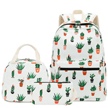 cactus backpack white