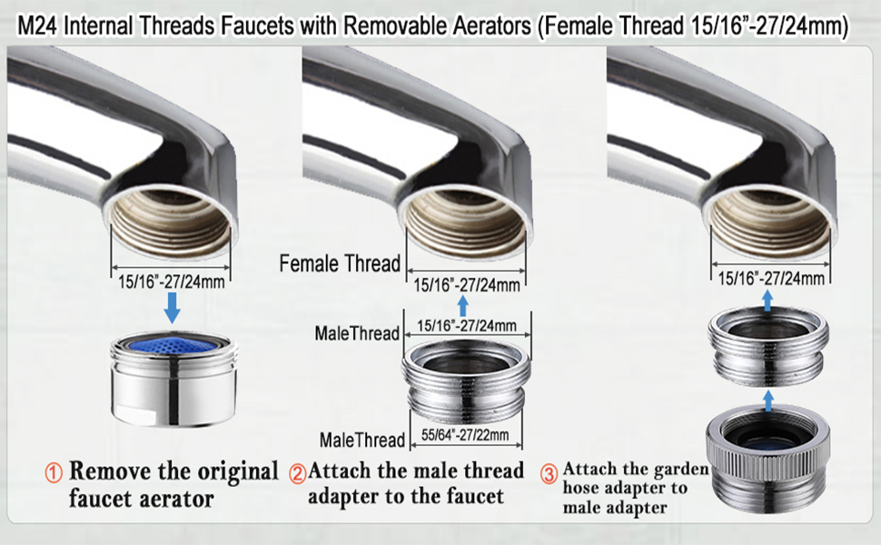 garden hose faucet adapter aerator