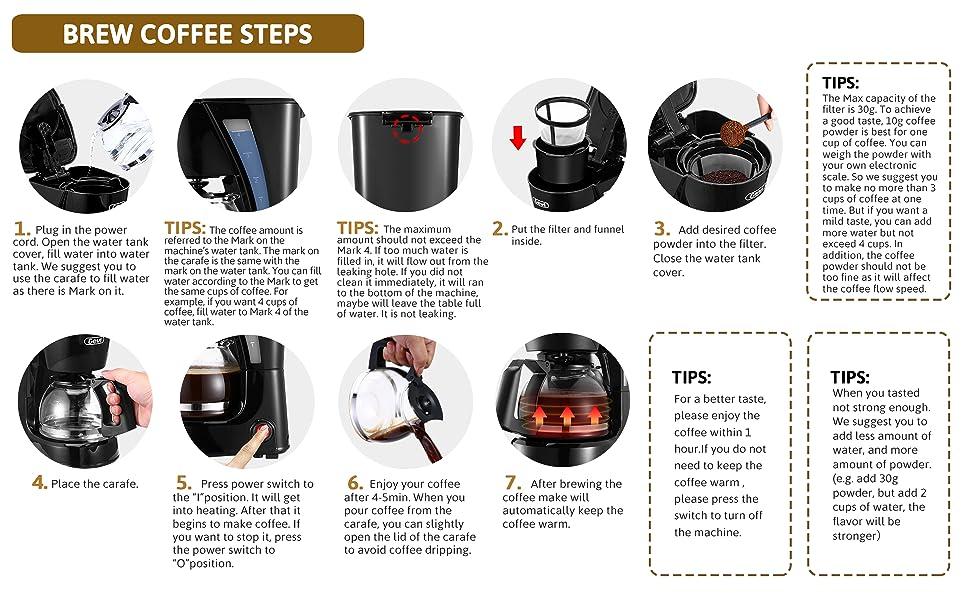 gevi 4 cup coffee maker