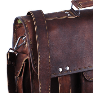 leather briefcase for men office working bag