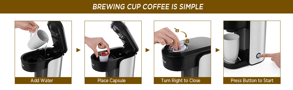 steps for brewing coffee