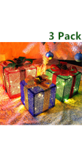 Christmas Lighted Pop Up Gift Boxes