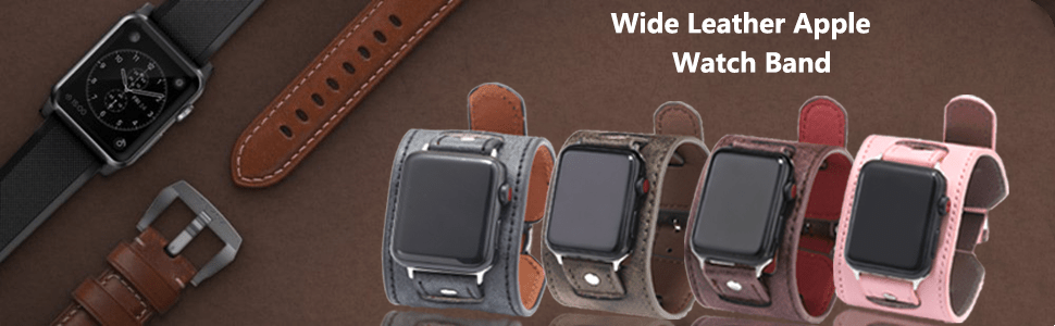 vintage leather bands fou your apple watch