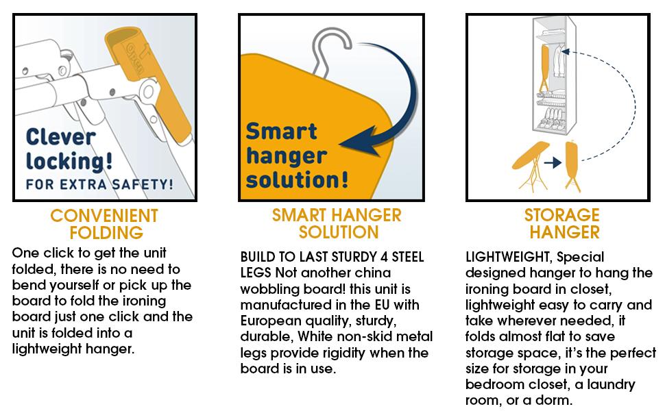 Smart hanger for easy storage