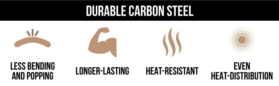durable carbon steel benefits
