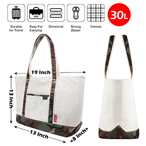 heavy duty canvas large tote bag with sturdy and extremely durable material strong zipper easy carry